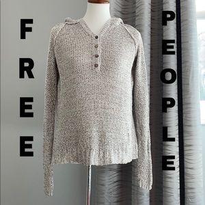 Free People loose knit hoodie